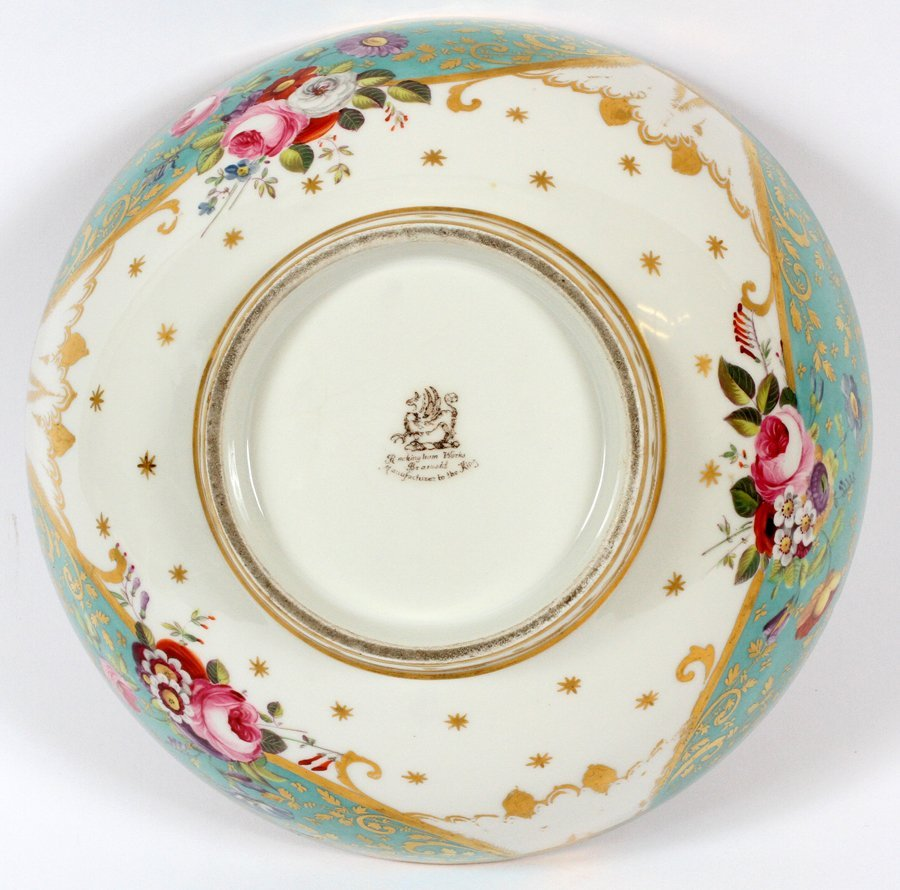 ROCKINGHAM PORCELAIN BOWL CIRCA 1850 - 3