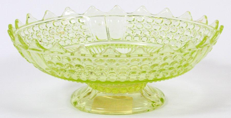 AMERICAN VASELINE GLASS COMPOTE CIRCA 1870