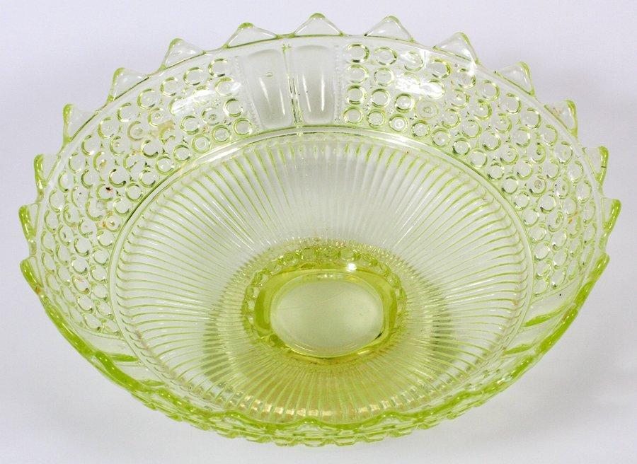 AMERICAN VASELINE GLASS COMPOTE CIRCA 1870 - 2