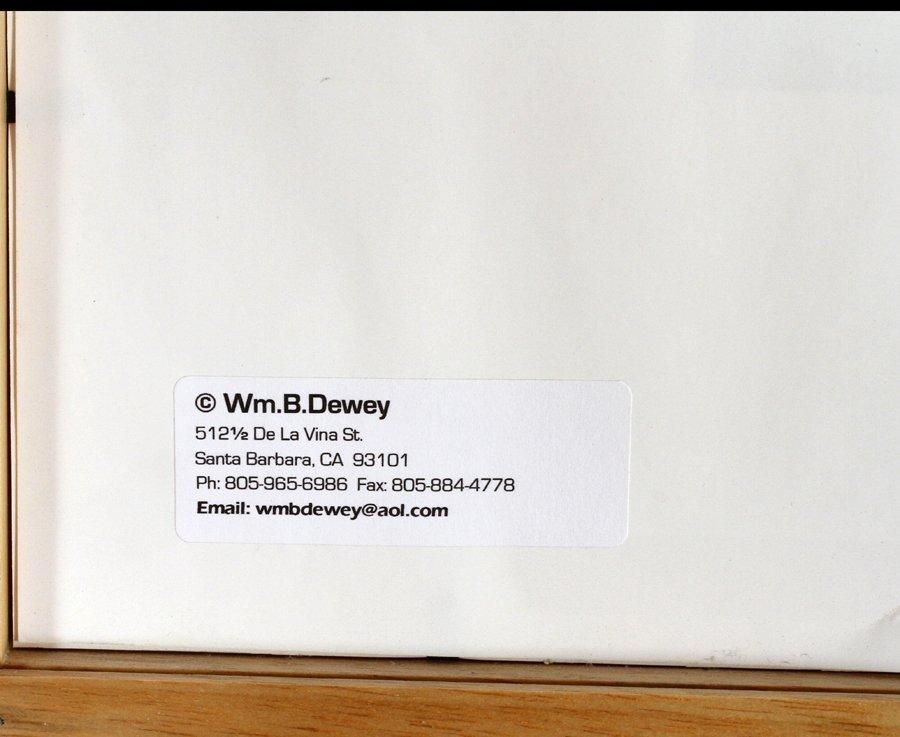 WILLIAM B. DEWEY DIGITAL INK JET PRINT 2001 - 4