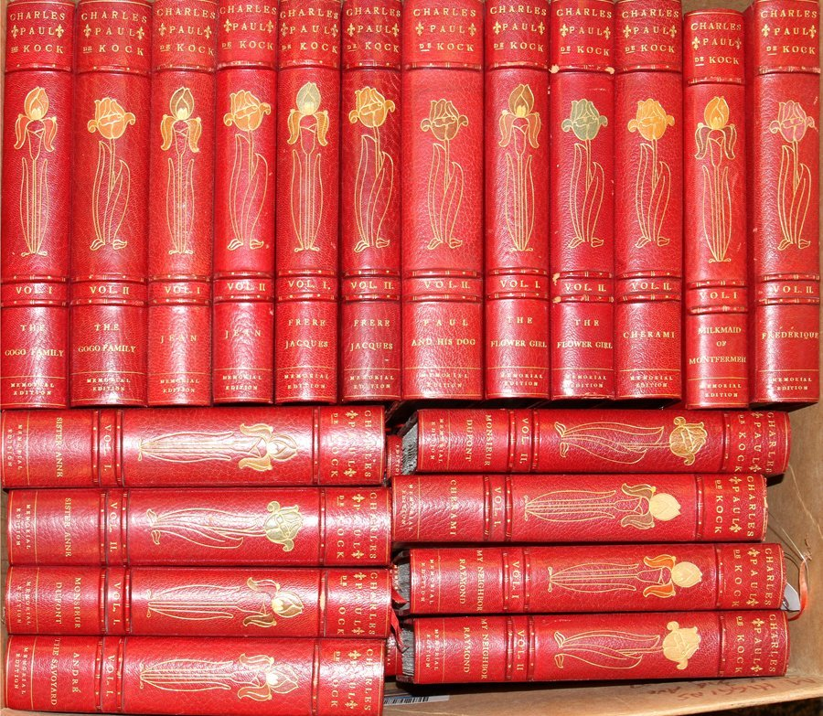 THE WORKS OF CHARLES PAUL DE COCK 42 BOOKS