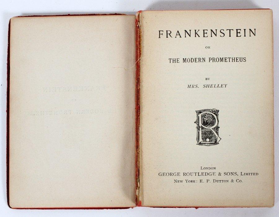 FRANKENSTEIN BY MRS. SHELLEY - 2