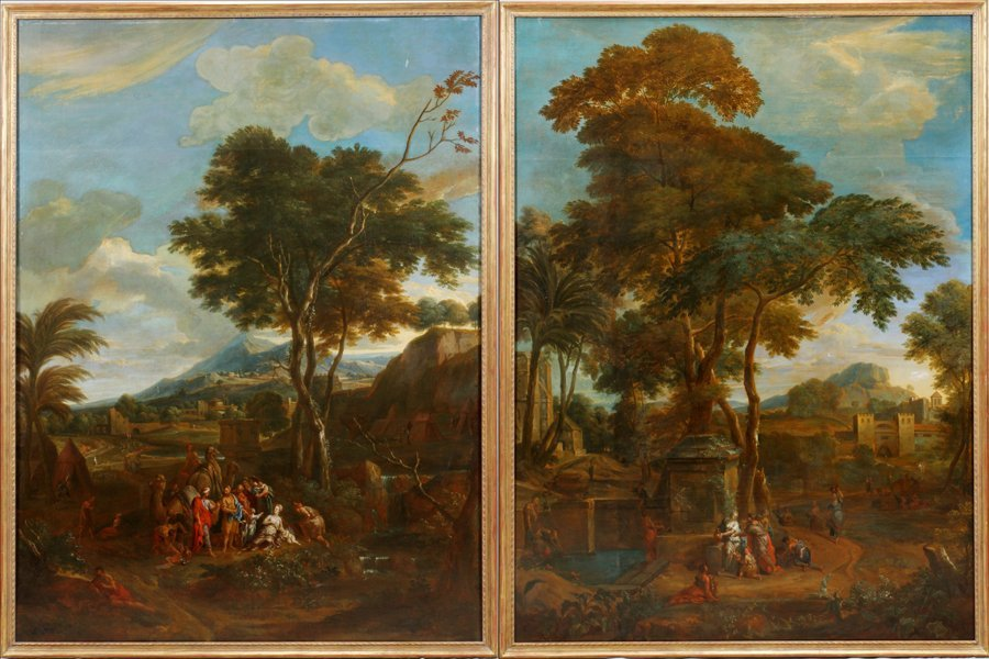 ATTRIBUTED TO P.D. HONDT, FLEMISH OILS ON CANVAS, 18TH