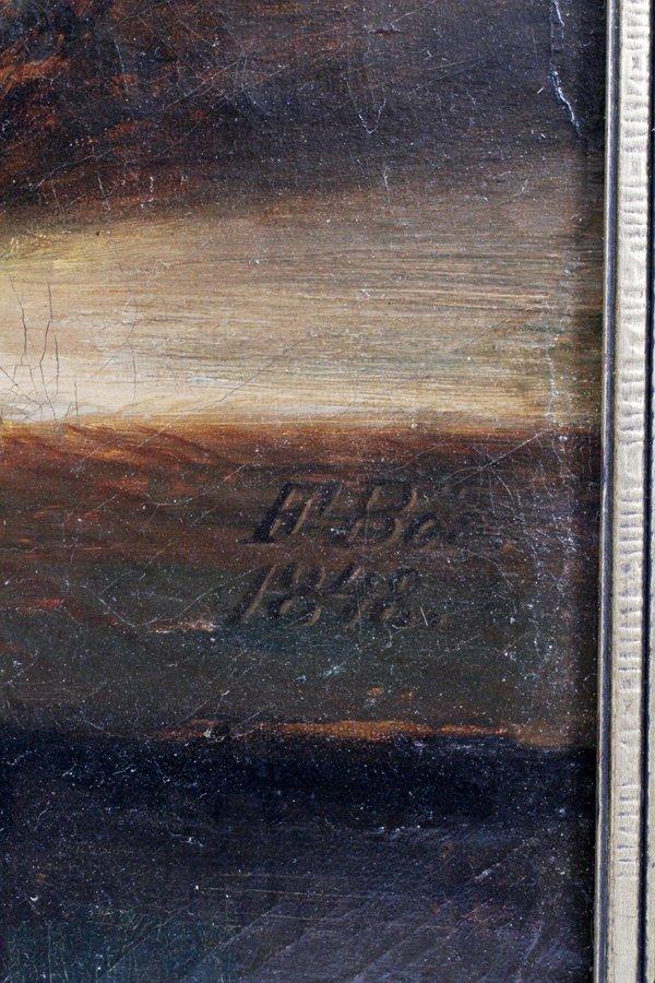 FRANZ DIDRIK BOE OIL ON CANVAS 1848 - 4