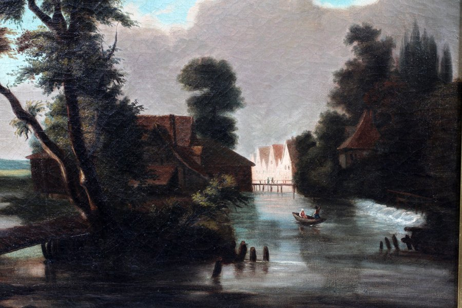 DUTCH SCHOOL OIL ON CANVAS - 2