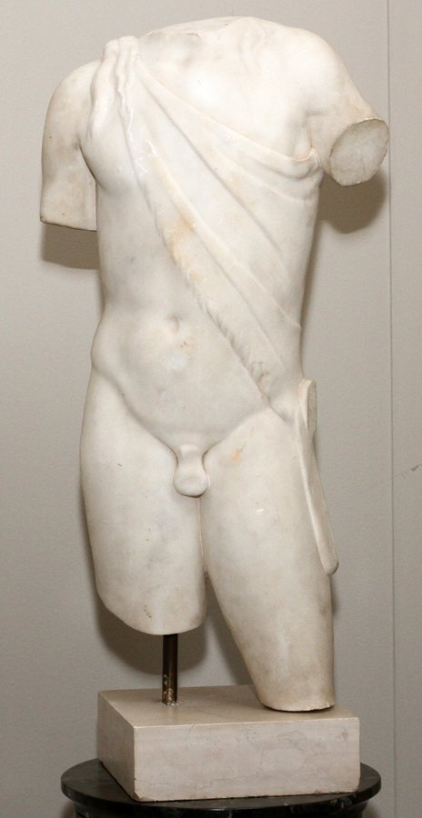 ITALIAN CARVED MARBLE TORSO