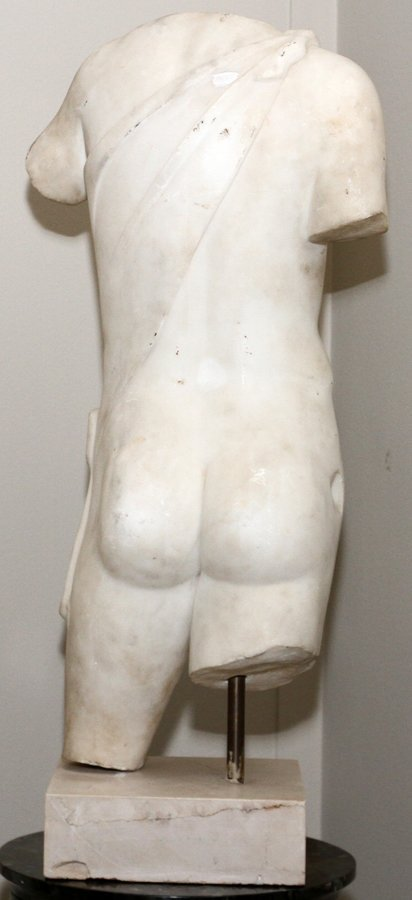 ITALIAN CARVED MARBLE TORSO - 3