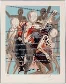 SALVADOR DALI COLOR LITHOGRAPH 1968