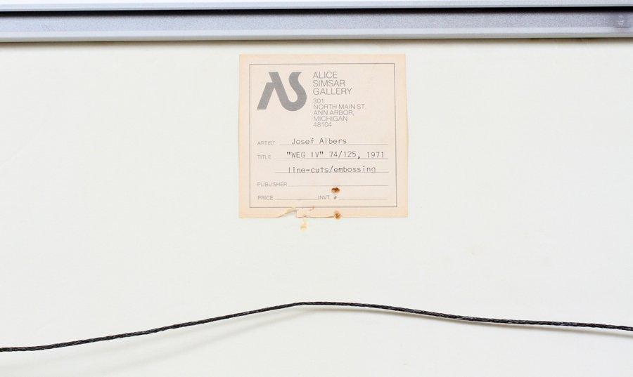 JOSEF ALBERS LINOCUT W/ EMBOSSING 1971 - 5
