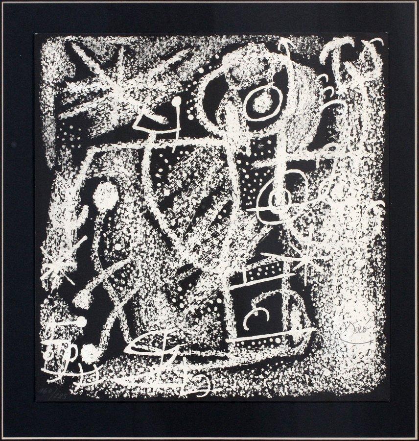 JOAN MIRO LITHOGRAPH JUAN MIRO Y CATALUNA 1968