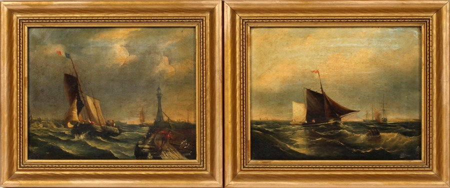 BRITISH OIL ON CANVAS LATE 19TH C. PAIR