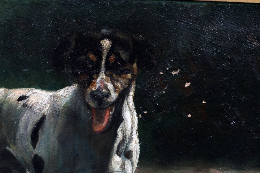 SIGNED OIL ON CANVAS 1906 - 2