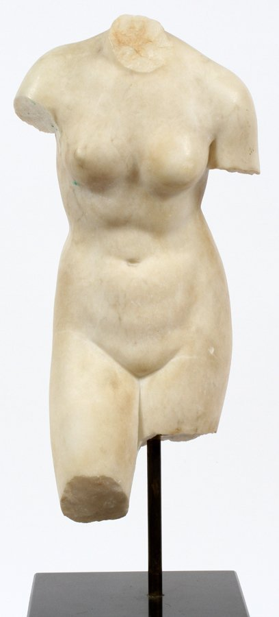 CLASSICAL CARVED MARBLE TORSO