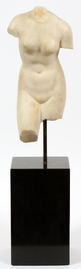 CLASSICAL CARVED MARBLE TORSO - 2