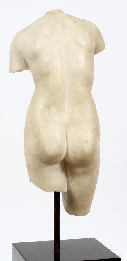 CLASSICAL CARVED MARBLE TORSO - 3