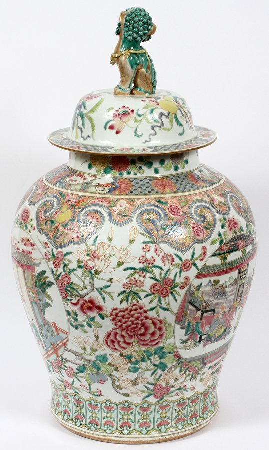 CHINESE PORCELAIN COVERED URN C. 1890 - 2