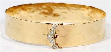 14 KT GOLD AND DIAMOND BRACELET 15 GR.