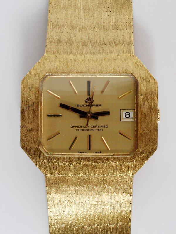 A BUCHERER 18KT YELLOW GOLD GENTLEMEN'S WRISTWATCH