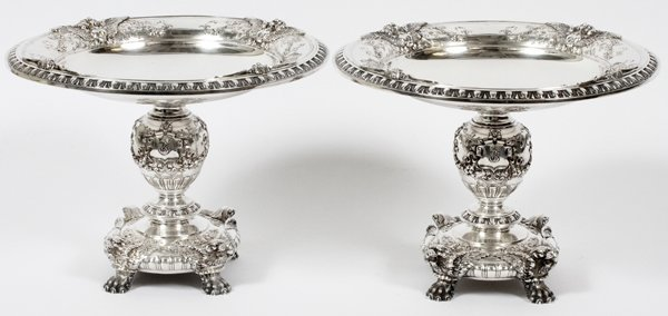 DOMINICK AND HAFF STERLING SILVER COMPOTES PAIR