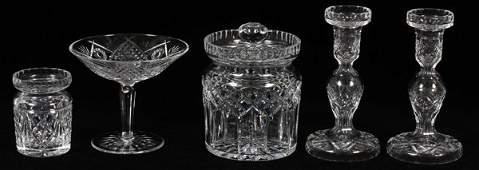 WATERFORD CRYSTAL TABLEWARE 5 PIECES