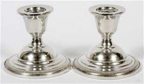 FISHER STERLING CANDLESTICKS PAIR