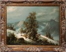LUDWIG MUNINGER OIL ON CANVAS