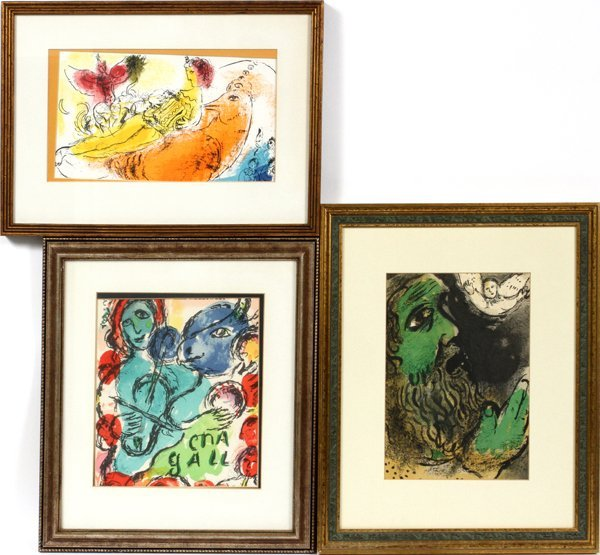 MARC CHAGALL COLOR LITHOGRAPHS