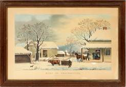 AFTER CURRIER AND IVES LITHOGRAPH