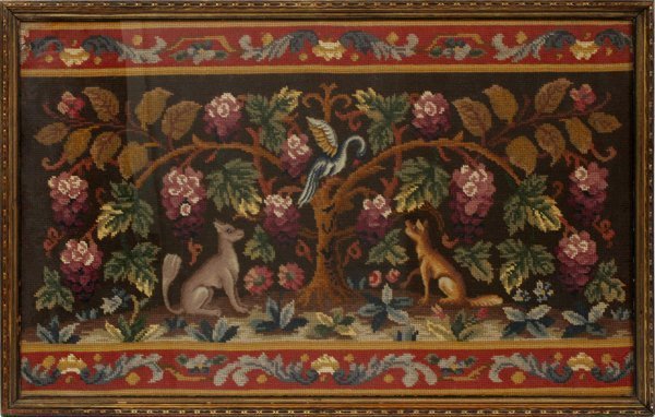 ANTIQUE ENGLISH EMBROIDERY FRAGMENT