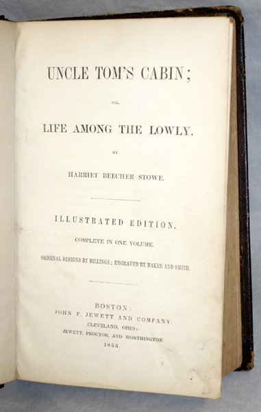 060009: HARRIET BEECHER STOWE, UNCLE TOM'S CABIN, 1853