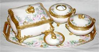 061317 LIMOGES FRENCH PORCELAIN DRESSER SET