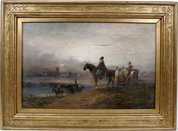062001: DOUGLAS ARTHUR TEED OIL ON CANVAS, HORSEMAN
