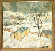 062357 RUTH BLANCHARD MILLER OIL ON CANVAS CUBIST