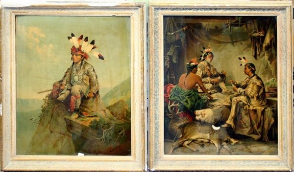 062366: AFTER STANLEY CHROMOLITHOGRAPHS, INDIANS