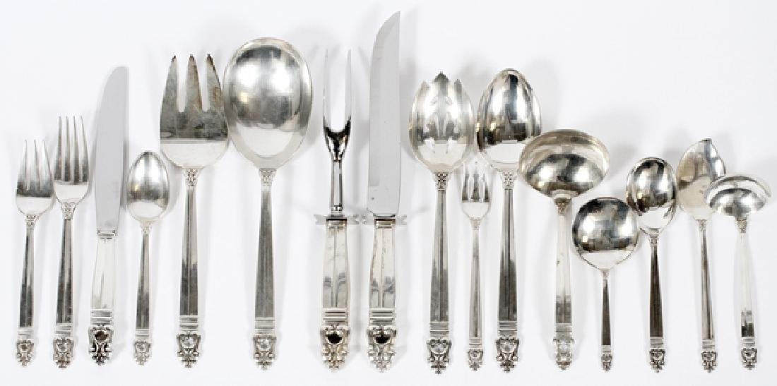 INTERNATIONAL 'ROYAL DANISH' STERLING FLATWARE