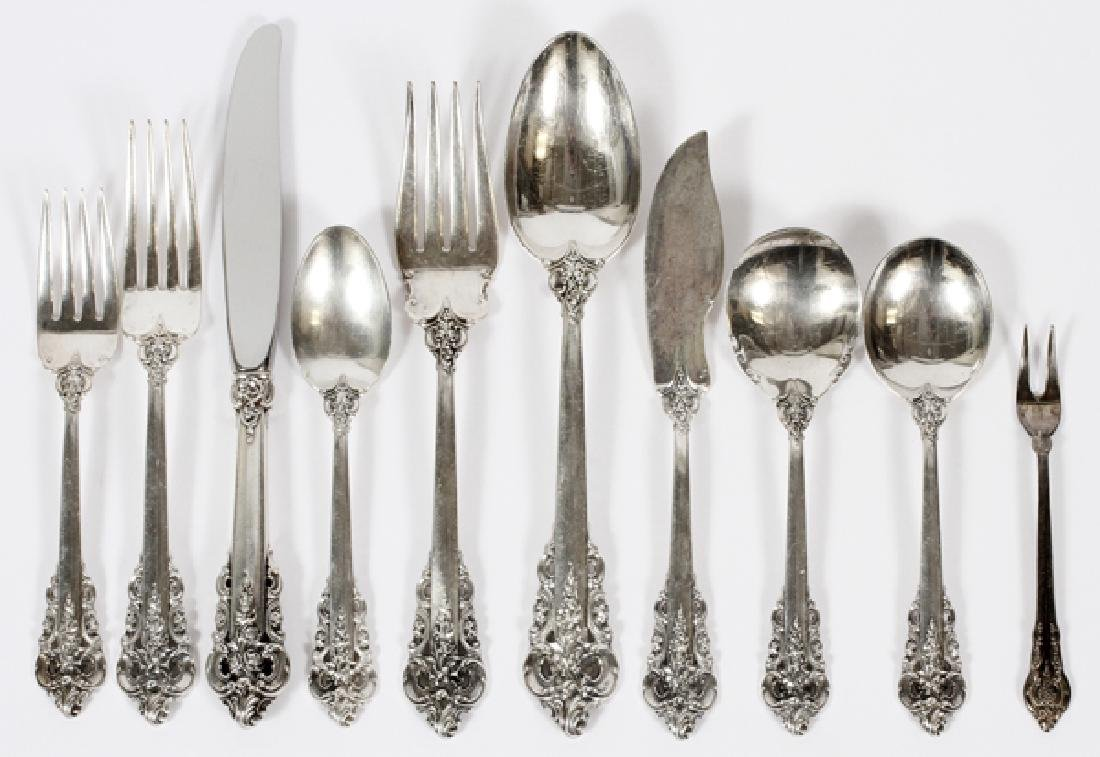 WALLACE GRAND BAROQUE STERLING FLATWARE 61PCS.