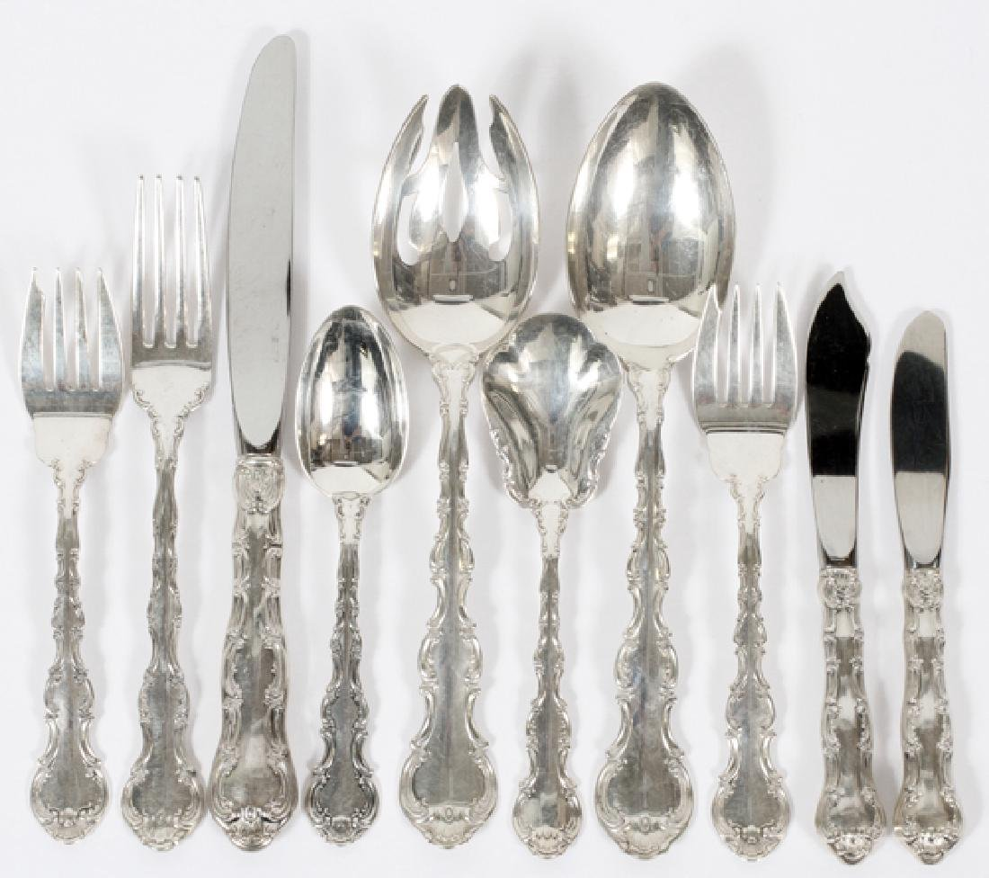 GORHAM 'STRASBOURG' STERLING FLATWARE 44 PIECES