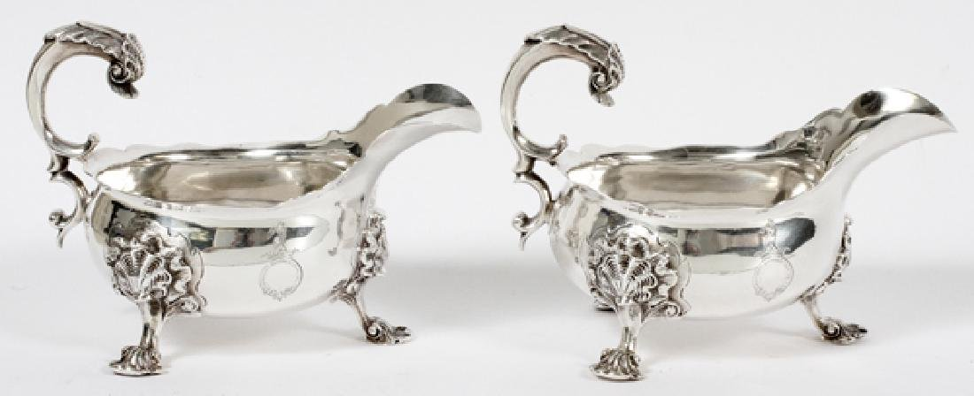 ENGLISH STERLING GRAVY BOATS EARLY 19TH CENTURY