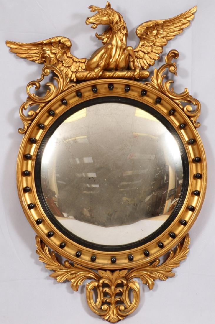 AMERICAN FEDERAL CONVEX MIRROR 19TH.C. MANSION SIZE
