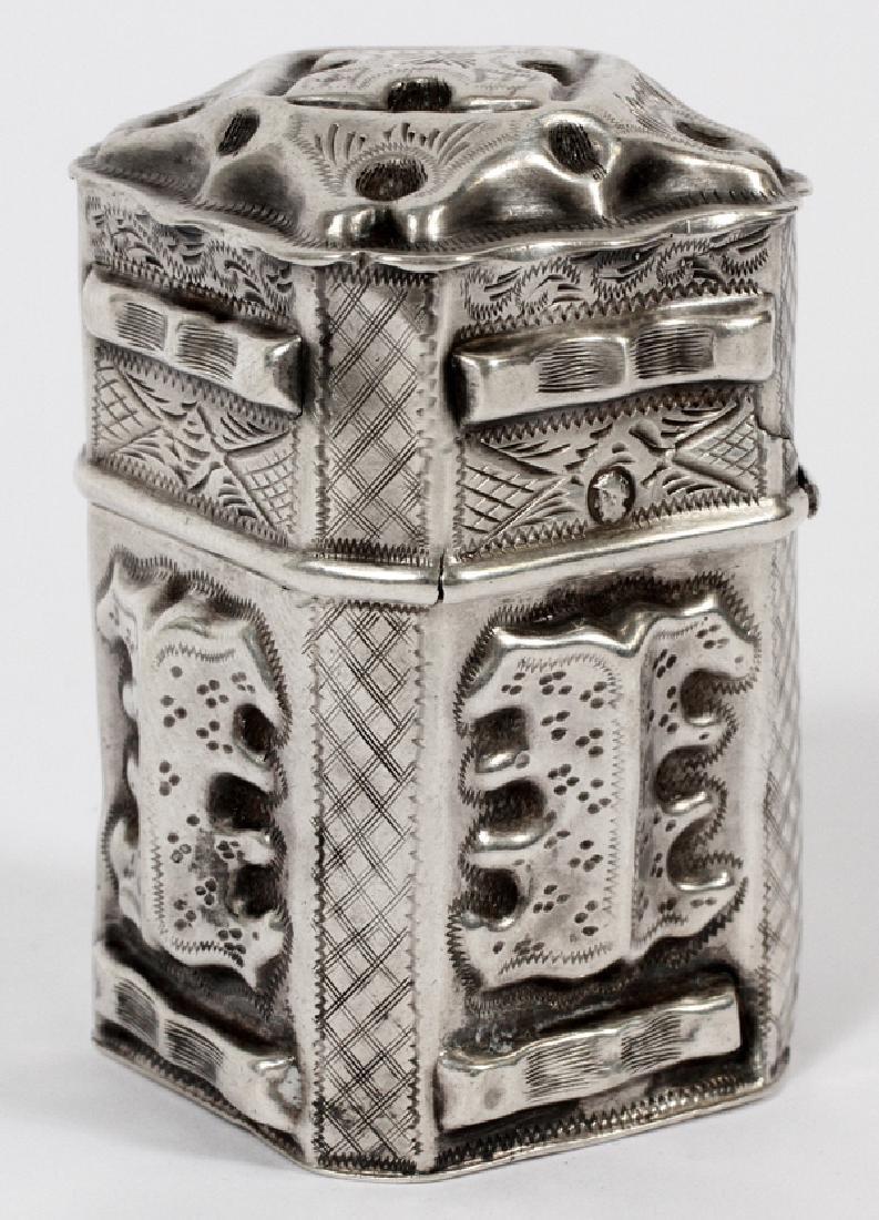 DUTCH WILLIAM III .833 SILVER SCENT BOX C. 1861