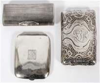 AMERICAN STERLING SILVER CASES EARLY 20TH C.