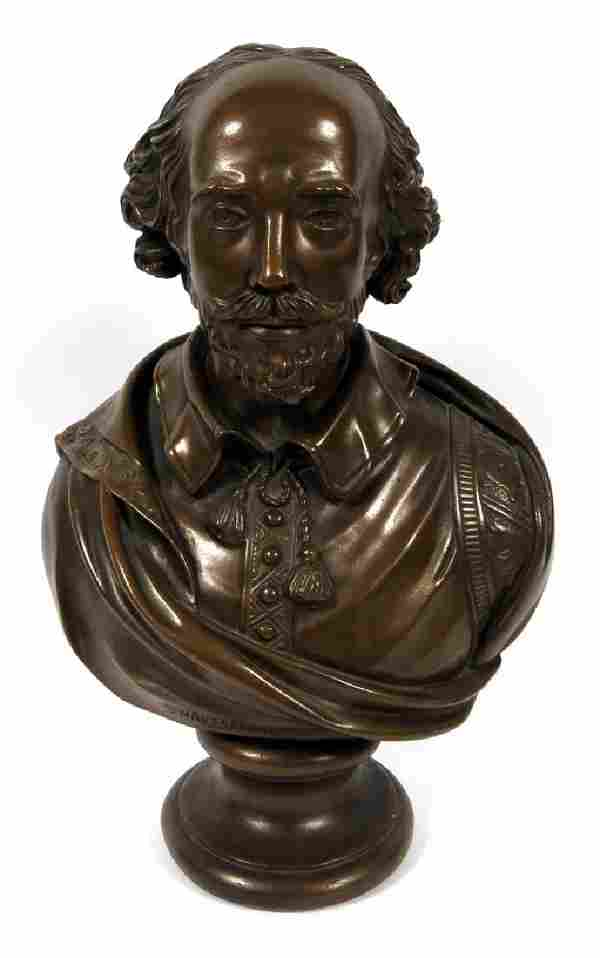 QUALITY ART CORP. PLASTER BUST OF SHAKESPEARE