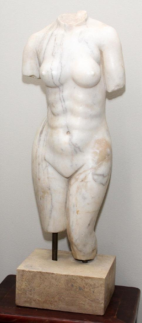 ITALIAN CARVED WHITE MARBLE SCULPTURE