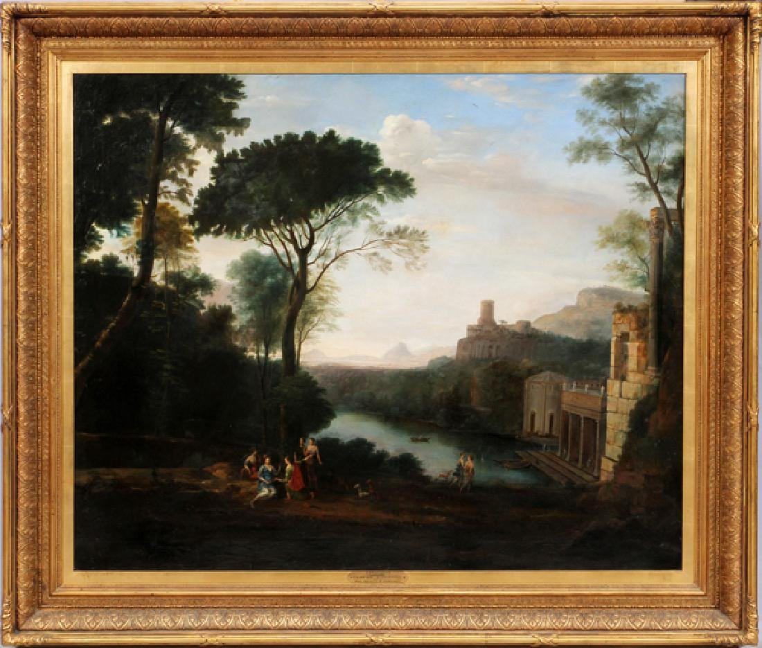 CLAUDE LORRAIN OIL ON CANVAS