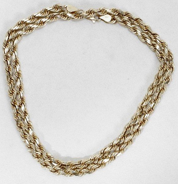 "070018: 14 KT GOLD (58g) SPIRAL CHAIN NECKLACE, L 24"""