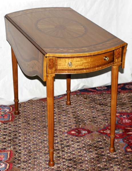 "071014: MAITLAND-SMITH PEMBROKE TABLE, H 28"", W 18"""