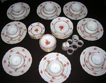 """072047: HEREND """"CHINESE BOUQUET RUST"""" PORCELAIN DISHES"""