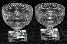 072257: WATERFORD CRYSTAL COMPOTES, AS IS CONDITION