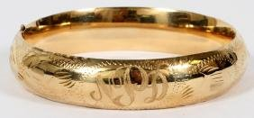 14 KT GOLD BANGLE BRACELET TW. 18 GR.