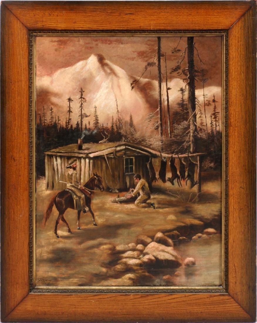 A.E. LINTON OIL ON CANVAS C. 1890